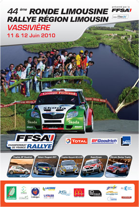 Affiche du rallye region limousin 2010